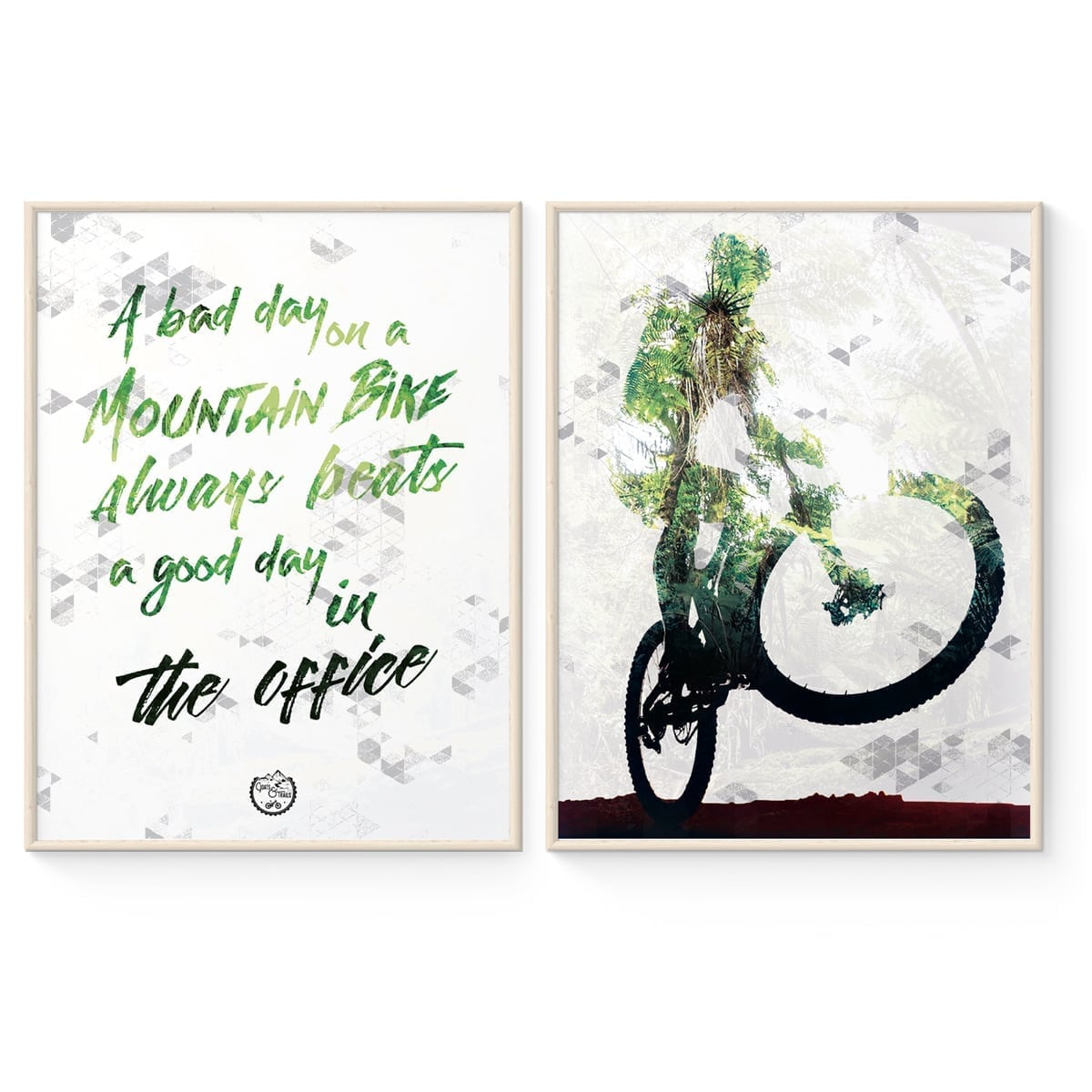 Mountainbike Statement Poster from Goats & Trails