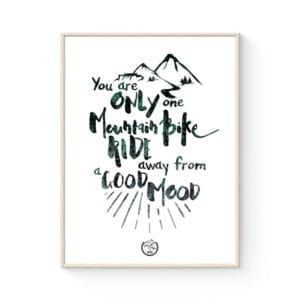 MTB Typografisk Plakat: A ride away fra Goats & Trails