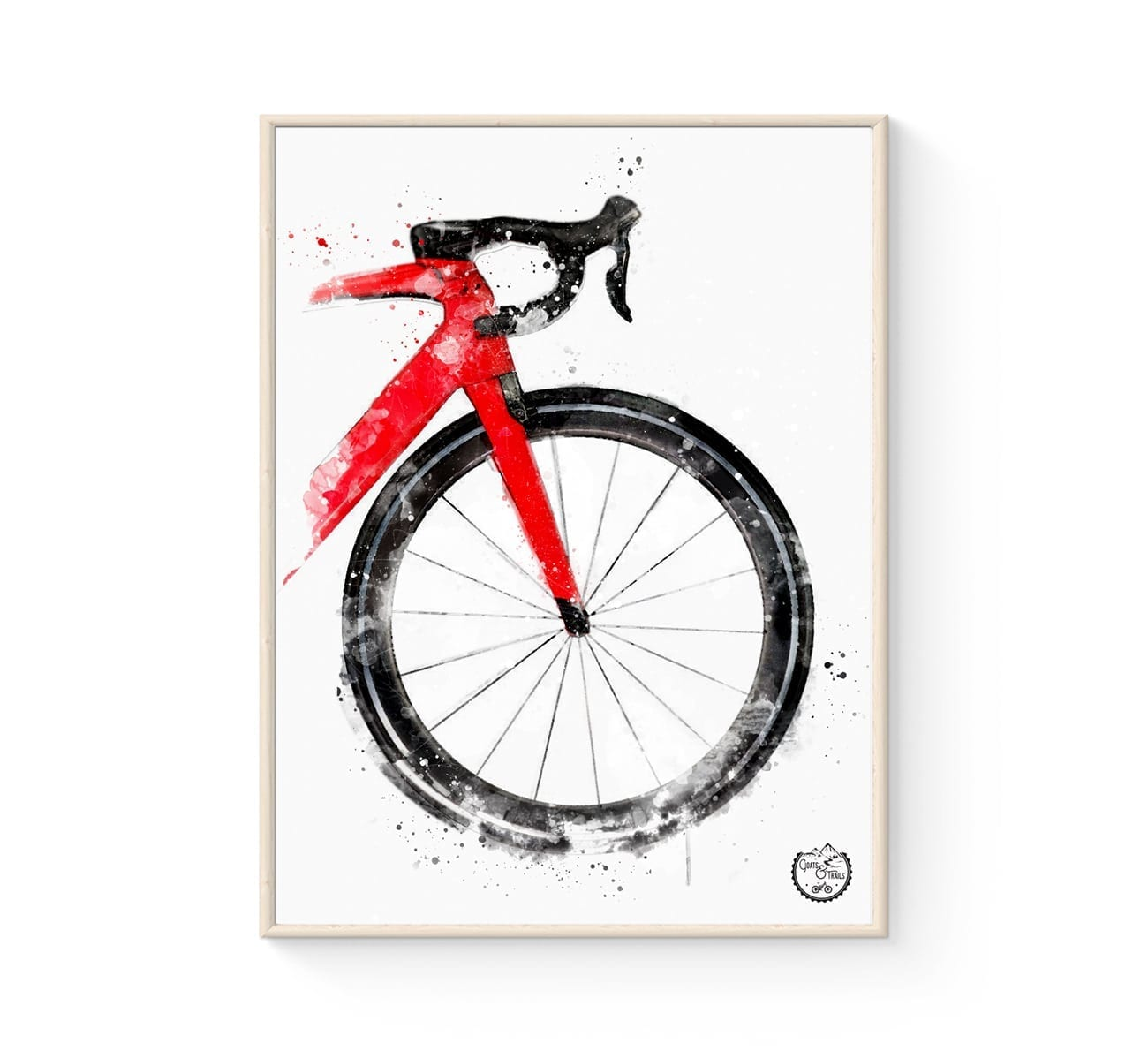 racercykel plakat i lækkert nordisk design - fra Goats & Trails