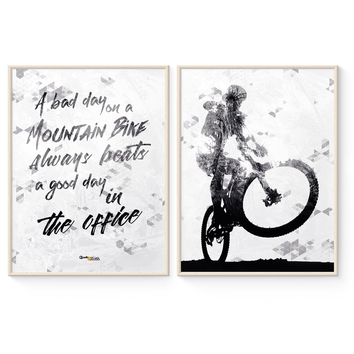 Mountainbike Statement Plakater i Sort/Hvid fra Goats & Trails