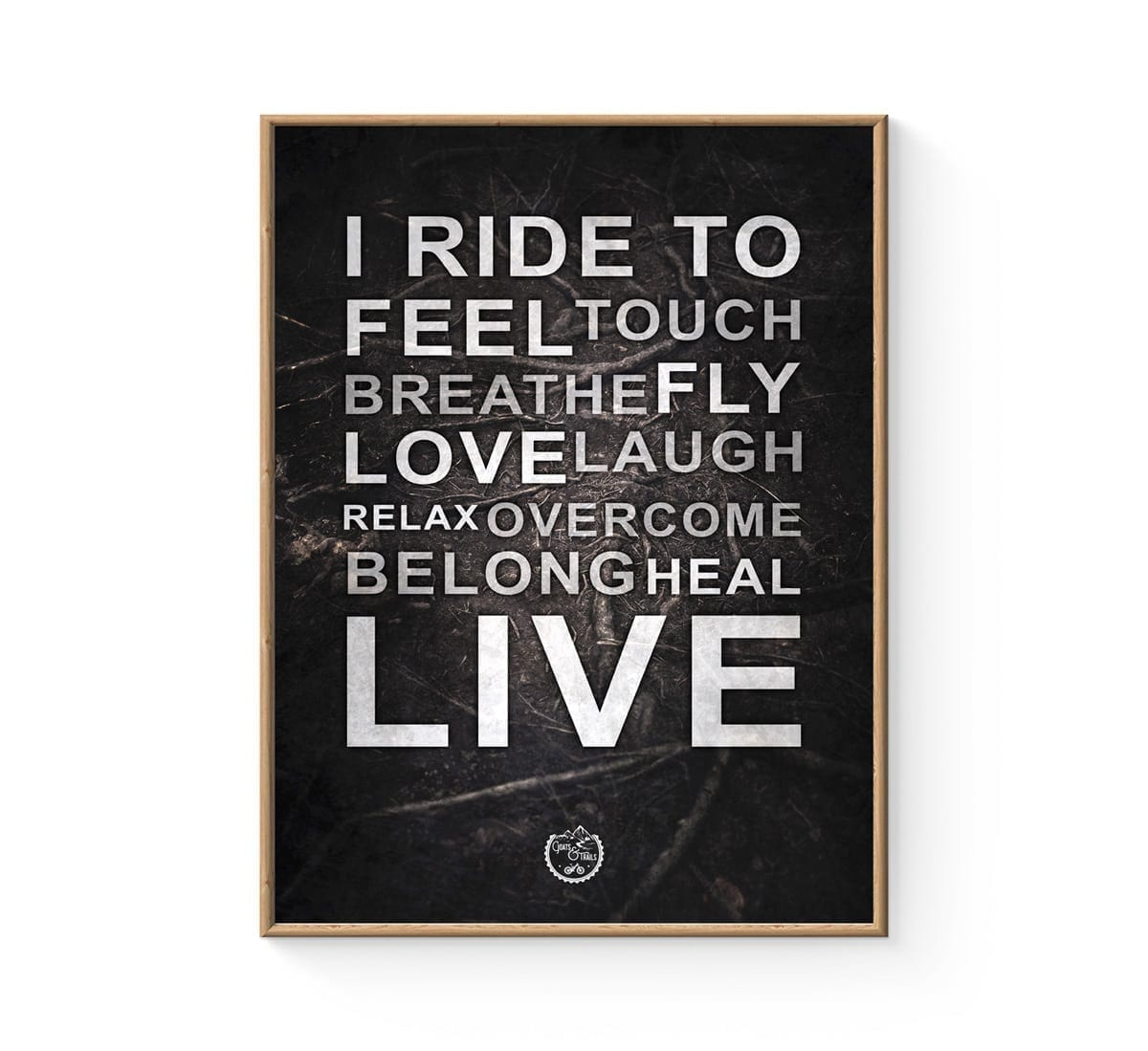 MTB typografisk cykelplakat I ride to