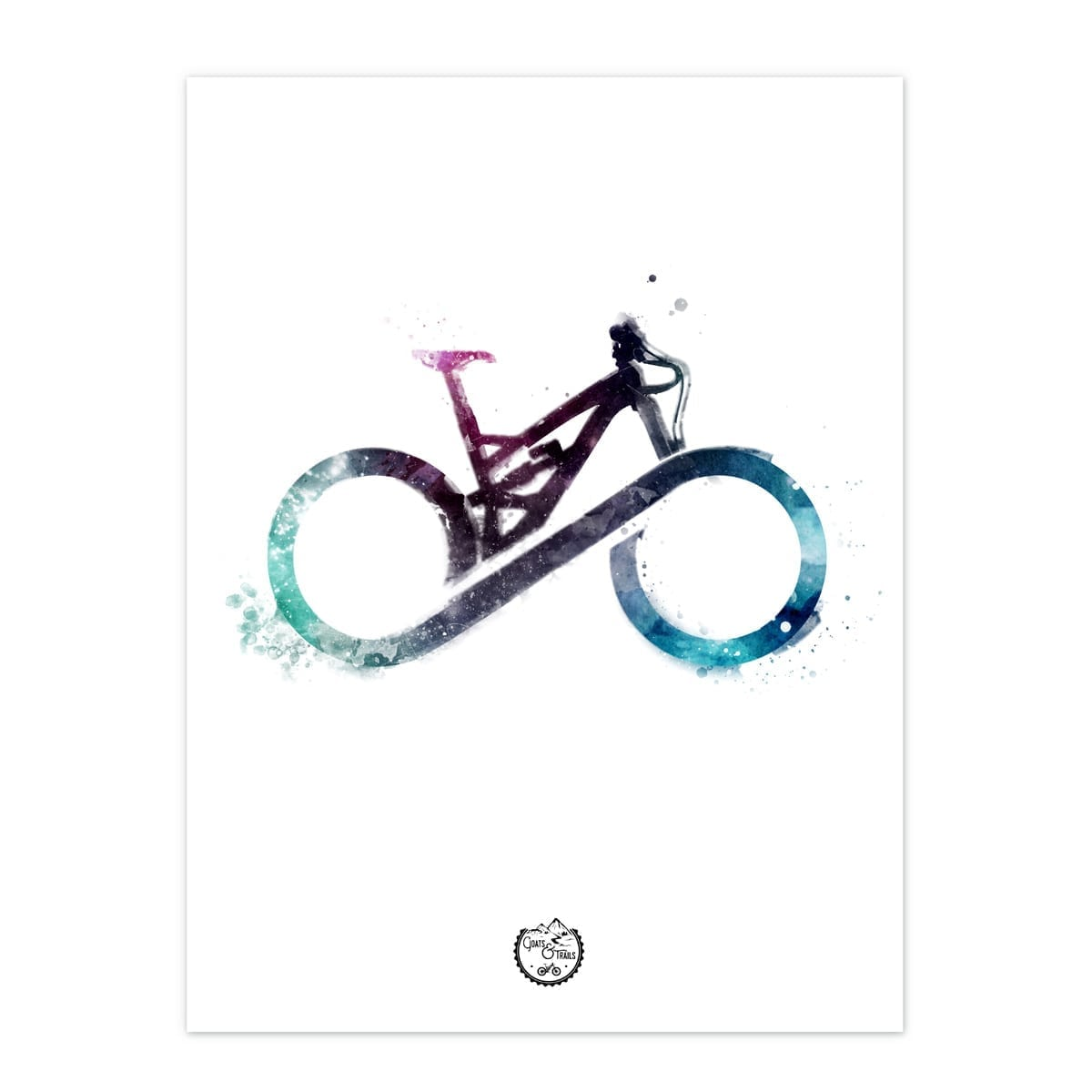 MTB forever cykelplakat